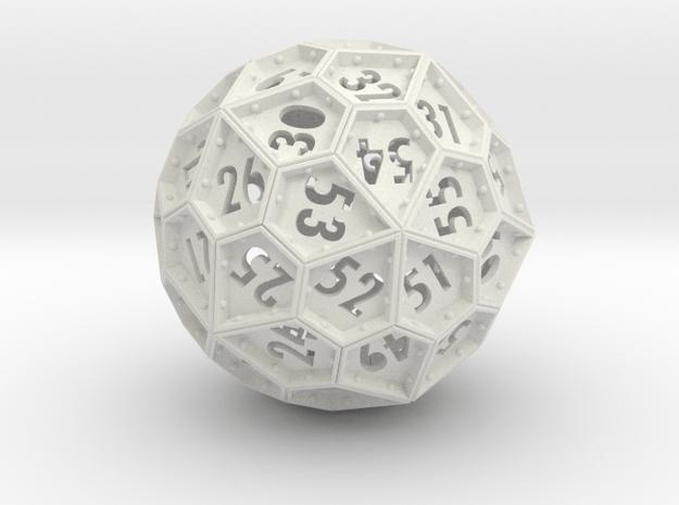 The Rosetta Dice #2 (60) in White Natural Versatile Plastic