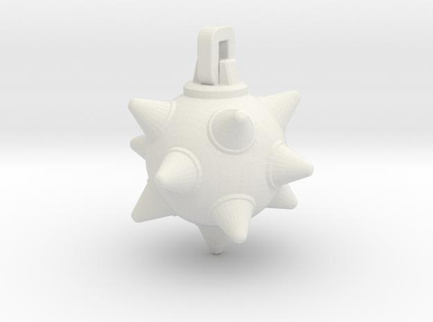 Morning-Star Pendant Head(s) in White Natural Versatile Plastic