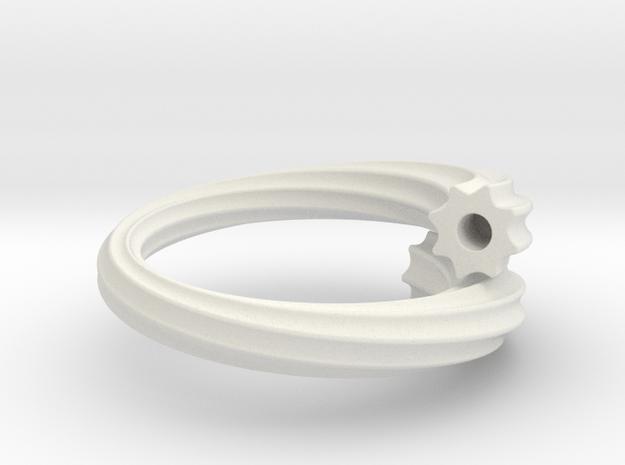 Chikuwa-bu Ring in White Natural Versatile Plastic