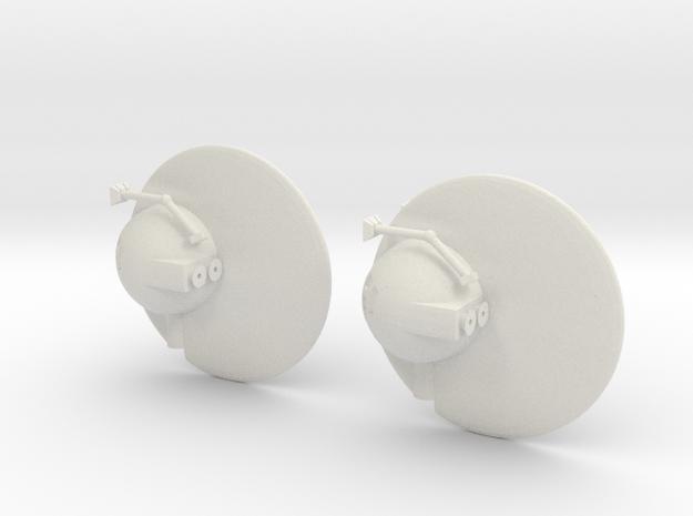 "R-Rocket ""Venus""-Class Tiny in White Natural Versatile Plastic"