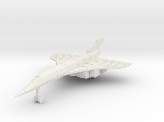 Silver Jet2 in White Natural Versatile Plastic