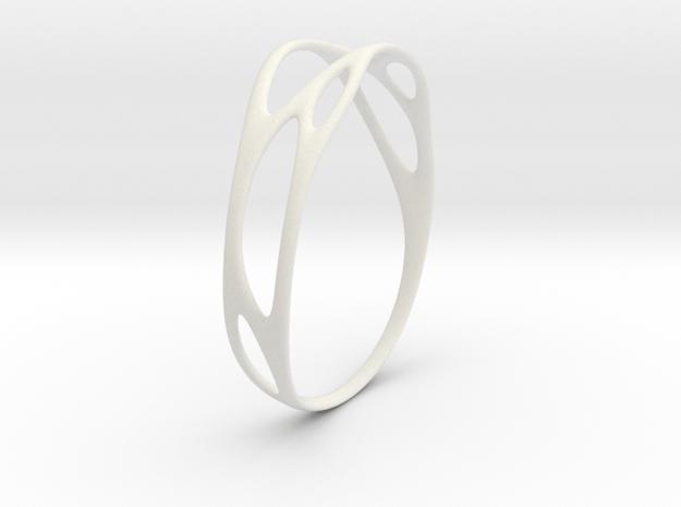 Branching No.1 in White Natural Versatile Plastic