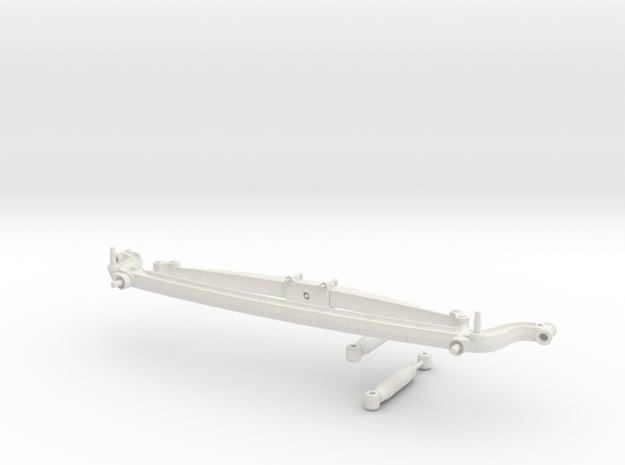 1/8 scale front axle  in White Natural Versatile Plastic
