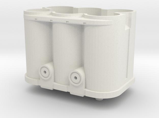 1/8 scale battery 1 in White Natural Versatile Plastic