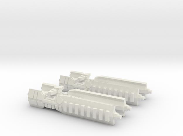 Fleet Scale Series 1: Terran Heavy Cruiser in White Natural Versatile Plastic