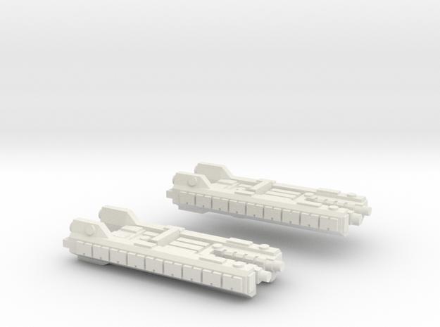 Fleet Scale Series 1: Terran Light Cruiser in White Natural Versatile Plastic