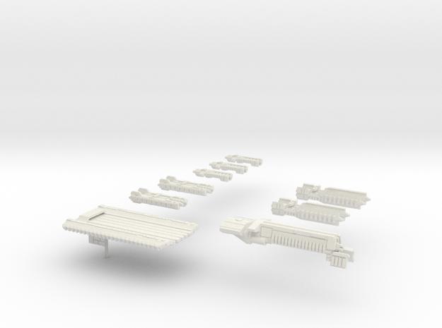 Fleet Scale Series 1: The entire Terran fleet in White Natural Versatile Plastic