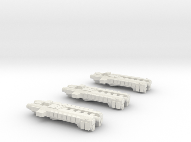 Fleet Scale Series1: Terran Destroyer Squadron in White Natural Versatile Plastic
