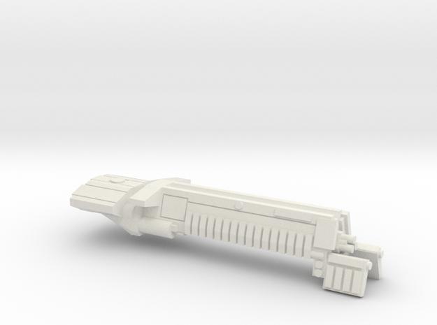 Fleet Scale Series 1: Terran Battleship in White Natural Versatile Plastic