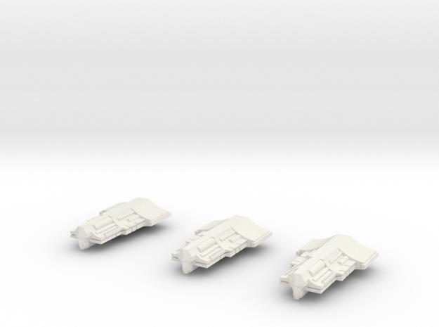 Fleet Scale Series 2 Alien Heavy Escorts in White Natural Versatile Plastic