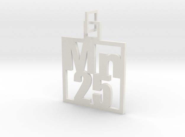 Elemental Pendant in White Natural Versatile Plastic