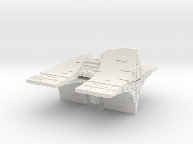 Fleet Scale Series 2: Alien Battleship in White Natural Versatile Plastic