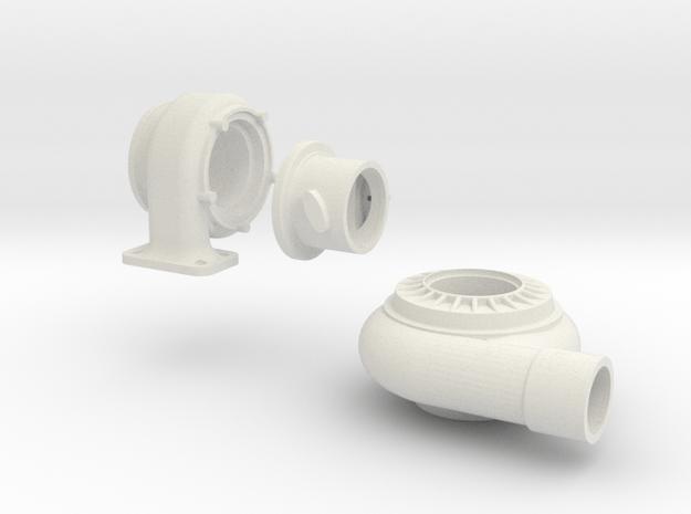 3 piece turbo 1/8 th scale in White Natural Versatile Plastic
