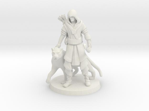 Elven Archer / Beastmaster (Large) in White Natural Versatile Plastic