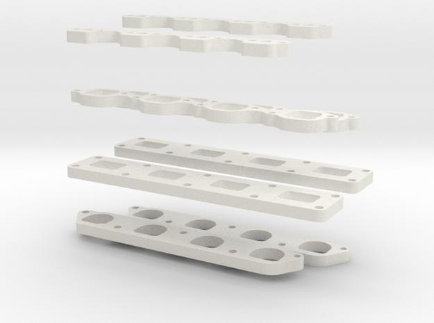 Flanges in White Natural Versatile Plastic