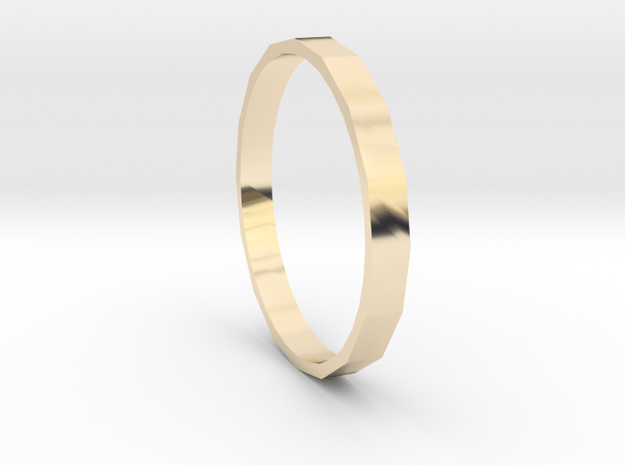 Square One - Sz. 8 in 14K Yellow Gold