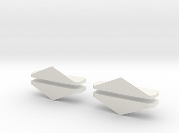 Schneeschieber 1:220 Dampflok 4 Stück in White Natural Versatile Plastic