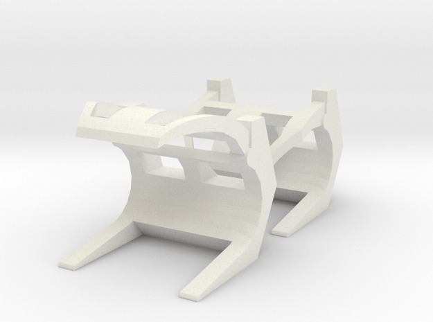 Pair Log Grabs 1:120 in White Natural Versatile Plastic