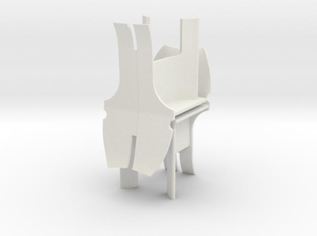 Pair of AV chairs in White Natural Versatile Plastic