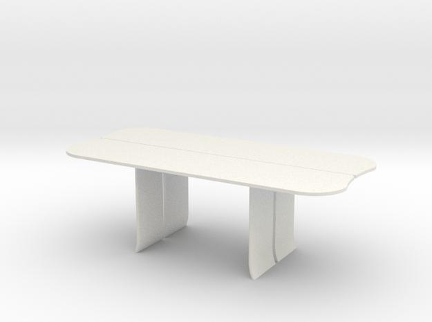 AV Table in White Natural Versatile Plastic