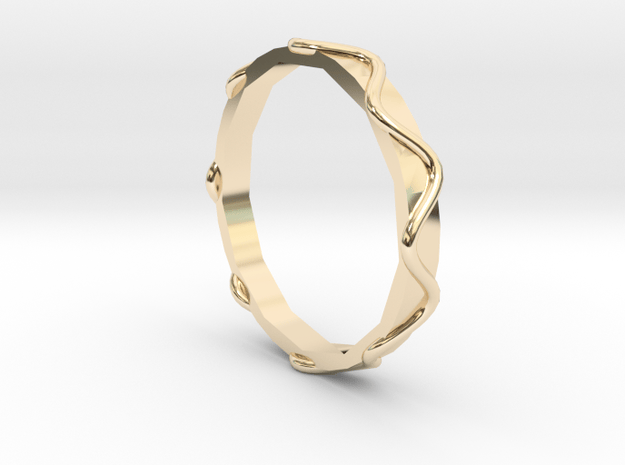 Waves Ring - Sz. 5 in 14K Yellow Gold