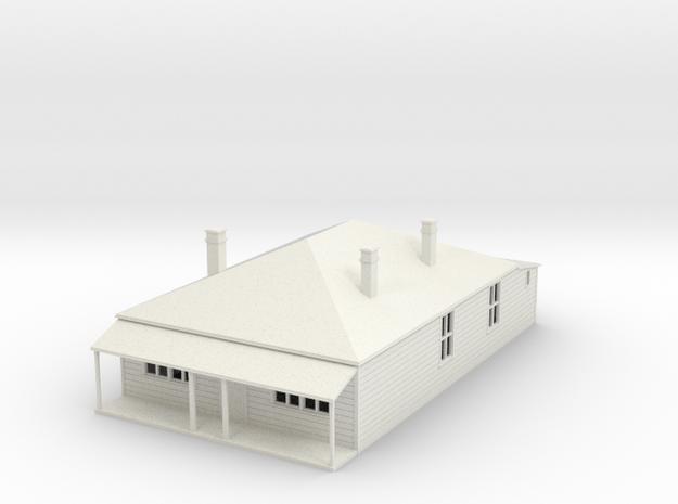 Older  House 1:120 in White Natural Versatile Plastic
