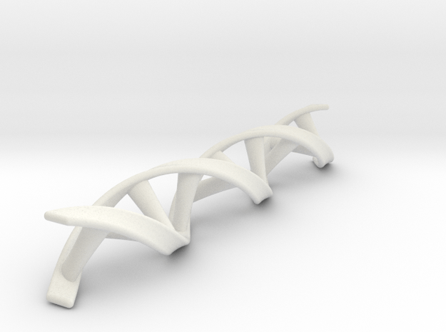 DNA double helix in White Natural Versatile Plastic