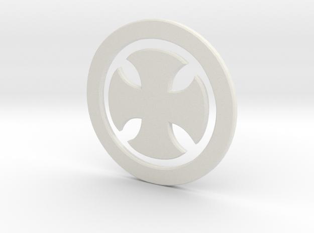 Templarsymbol in White Natural Versatile Plastic