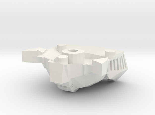 G2P-002a Front in White Natural Versatile Plastic