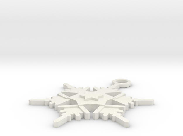 Snowflake Earring Geni in White Natural Versatile Plastic