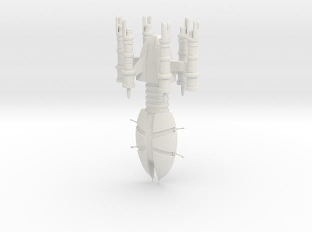 Throdox Fleet Carrier in White Natural Versatile Plastic