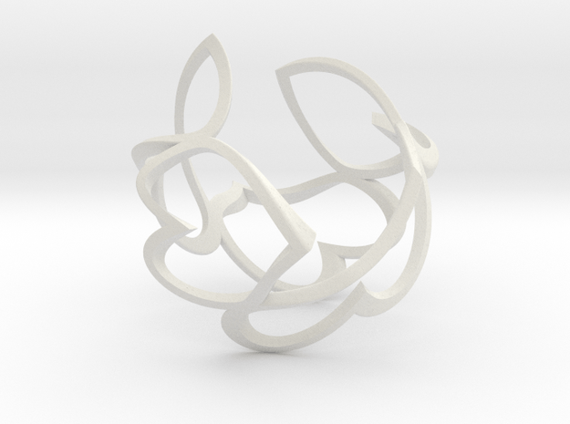 Twisted hearts in White Natural Versatile Plastic
