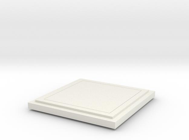Floor Tile in White Natural Versatile Plastic