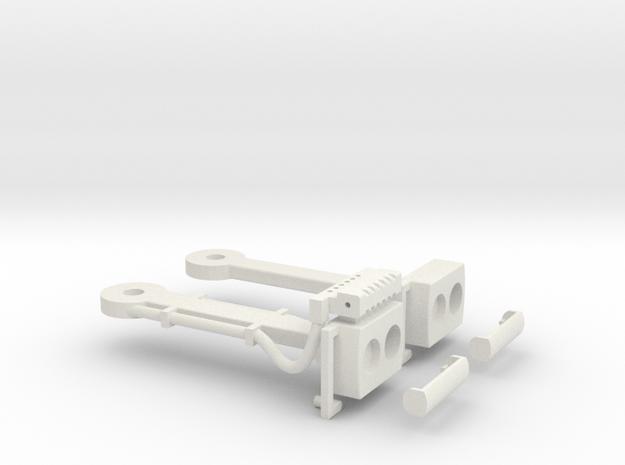 Magnet - Scharfenbergkupplung Tatra -Bw IIm/LGB in White Natural Versatile Plastic