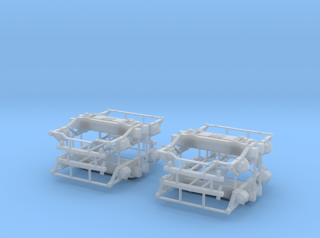 """On3 DSP&P Type """"A""""/Litchfield Trucks, 2 pair in Smooth Fine Detail Plastic"""