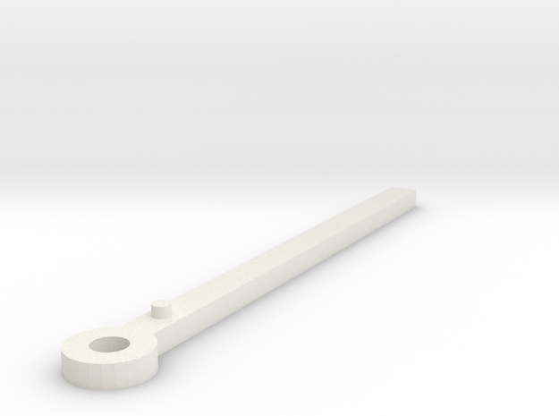 Clock minute hand modelled in Sketchup in White Natural Versatile Plastic