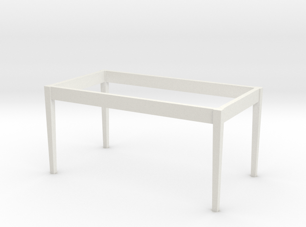 1:24 Dining Room Table Base in White Natural Versatile Plastic