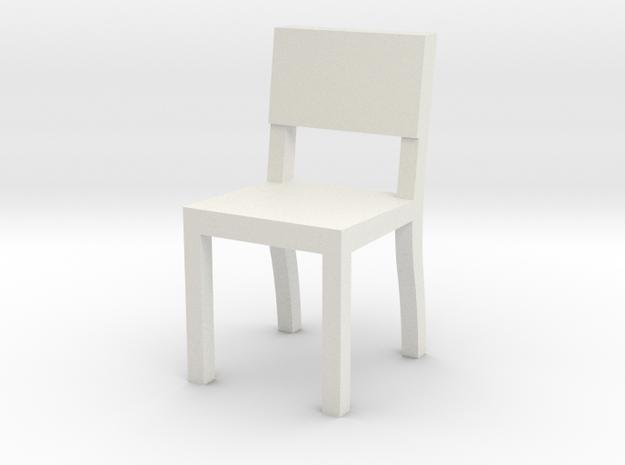 1:48 chair3 in White Natural Versatile Plastic