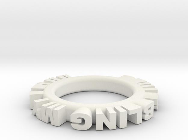 bling ring 1 in White Natural Versatile Plastic