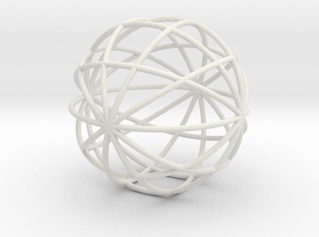 hollow ball 2,5cm 0.8mm strings in White Natural Versatile Plastic
