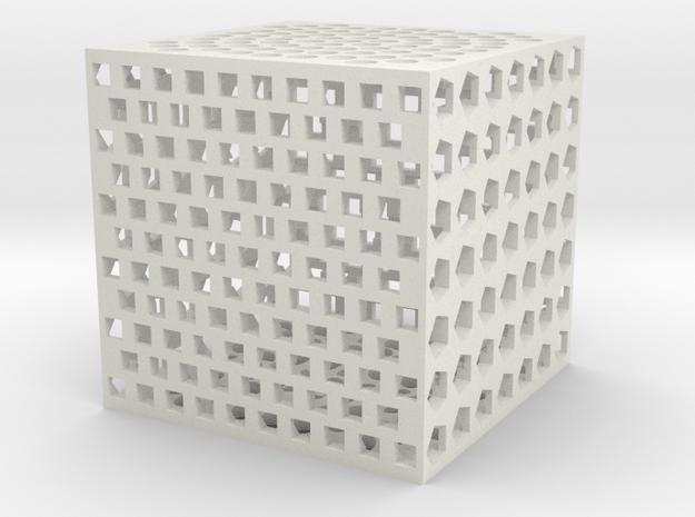 holecube1 in White Natural Versatile Plastic