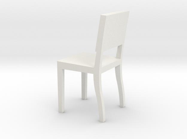 1:24 Square Chair 3 in White Natural Versatile Plastic