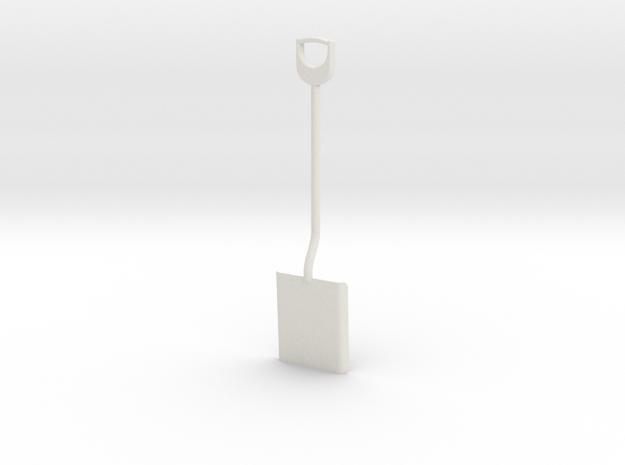 Shovel, 1/8 scale in White Natural Versatile Plastic