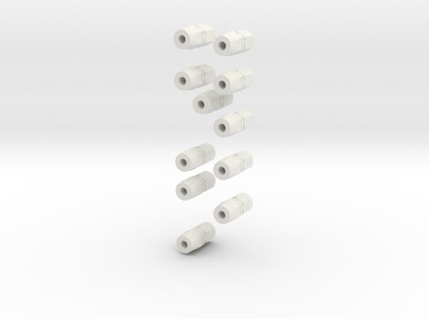 11fittings in White Natural Versatile Plastic