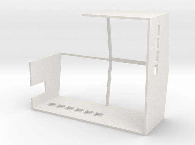 Anbau zur Panzerhalle Spur Z in White Natural Versatile Plastic
