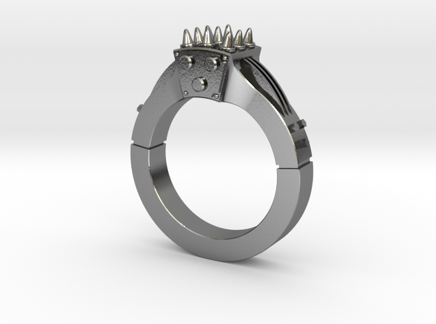 MeatChopper Ring in Polished Silver