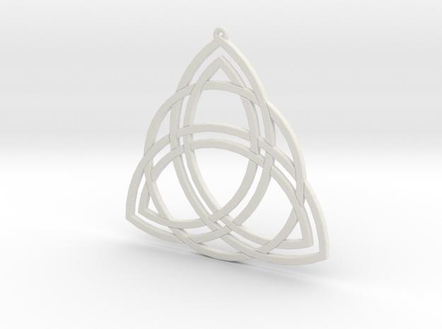 Triquetra in White Natural Versatile Plastic