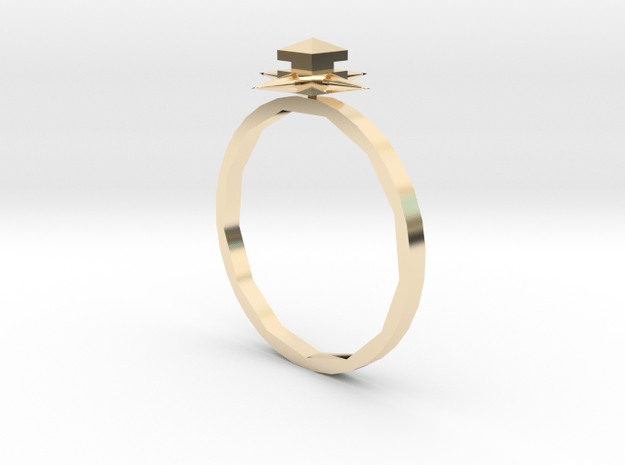 Temple Ring - Sz. 7 in 14K Yellow Gold