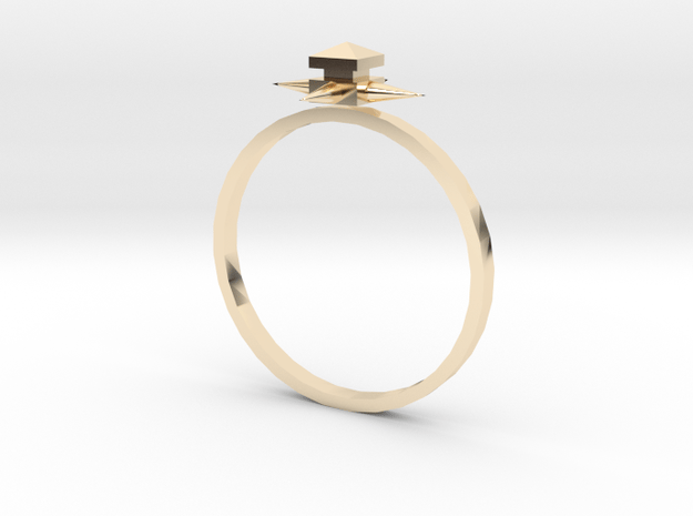 Temple Ring - Sz. 8 in 14K Yellow Gold