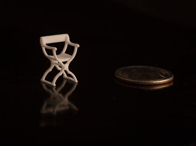 1:48 Savonarola Chair in White Natural Versatile Plastic